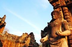 Phanom阶石头武里喃府泰国城堡废墟  图库摄影