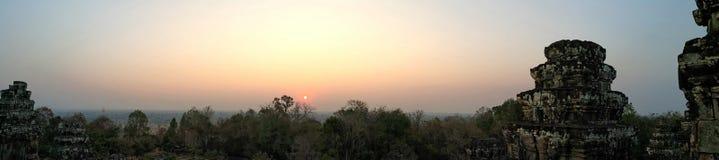 Phanom Bakheng Sunset. Sunset at Phanom Bakheng, Siem Riep, Cambodia Royalty Free Stock Photography