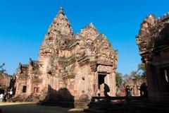 Phanom ringde historiskt parkerar den huvudsakliga templet Fotografering för Bildbyråer