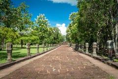 Phanom ringde historiskt parkerar, en gammal arkitektur omkring tusen år sedan på det Buriram landskapet, Thailand Royaltyfri Foto