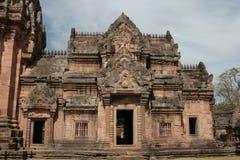 Phanom ringde tempelet i Buriram Thailand Arkivfoton