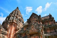Phanom roong castle Stock Photo