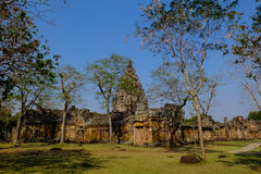 Phanom Rung Castle. Old stone castle in the sky is clear Royalty Free Stock Images
