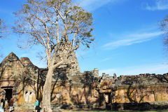 Phanom Rung historical park at Buriram Province,Thailand, Public architecture for travel. Sand stone castle Phanomrung Historical Park castle in Buriram province Stock Images