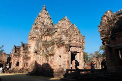 Phanom Rung Historical Park Main Temple. Phanom Rung name, Prasat Hin Phanom Rung , or Prasat Phnom Rong in Khmer, is a Khmer temple complex set on the rim of an Stock Image