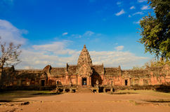 Phanom Rung Historical Park. Phanom Rung  name, Prasat Hin Phanom Rung , or Prasat Phnom Rong in Khmer, is a Khmer temple complex set on the rim of an extinct Stock Photos