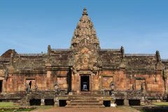 Phanom rung, Sandstone carved castle Royalty Free Stock Photo
