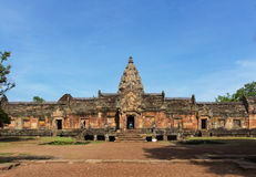 Phanom rung, Sandstone carved castle Royalty Free Stock Image