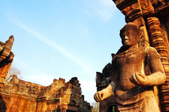 Phanom Rung Stone Castle Ruin of Buriram Thailand Stock Photography