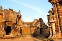 Phanom Rung Stone Castle Ruin of Buriram Thailand Stock Photos