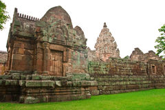 Phanom Rung stone ruins, northeast of Thailand. Royalty Free Stock Photos
