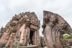 Phanom soou o parque histórico, complexo do templo com Naga imagens de stock