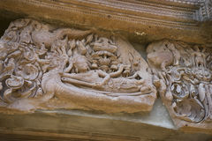 Phanomrung historical park,Burirum,Thailand. Details of sandstone carving at Phanomrung historical park,Burirum,Thailand Stock Photo