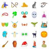 Phantasy icons set, cartoon style. Phantasy icons set. Cartoon set of 25 phantasy vector icons for web isolated on white background Stock Photo