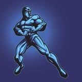 Phantom 2 (no cape). Dark superhero or villain standing in defense. Put your logo on his chest Royalty Free Stock Image