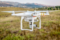 Phantom drone flying with camera Royalty Free Stock Photo