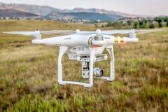 Phantom drone flying with camera Royalty Free Stock Photo