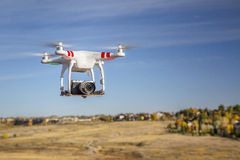 Phantom drone flying Stock Photography