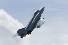 Phantom F-4 entfernen sich Stockbild
