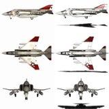 Phantom - Fighter Aircraft. 3d render of a phantom - fighter aircraft Stock Images