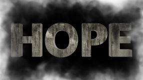 Phantom hope. Hope in the fog. Beautiful drawing for background Royalty Free Stock Images
