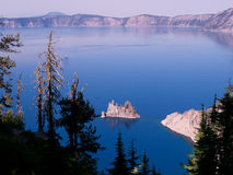 Phantom Island Crater Lake Royalty Free Stock Photos