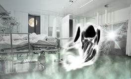 Phantom of patient in the ward Royalty Free Stock Image