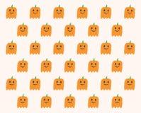 Phantom Pumpkins Halloween-patroon Royalty-vrije Stock Afbeeldingen