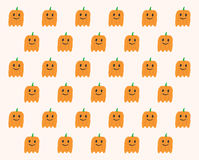 Phantom Pumpkins Halloween pattern Royalty Free Stock Images