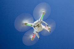 Phantom quadcopter drone flying Stock Images