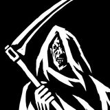 Phantom Reaper. Head in the Hood. Isolated Flat Vector Illustration. Stock Image