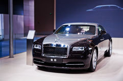 The phantom of Rolls-Royce. Take on the 16th Chongqing International Motor Show, June 6th-12th, 2014. There are many international famous brand companies and Royalty Free Stock Photos