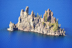 The phantom ship at Crater Lake Stock Photo