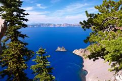 Phantom Ship, Crater Lake Royalty Free Stock Photos