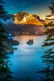 Phantom Ship Island Crater Lake Oregon Stock Photos