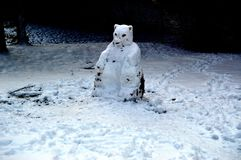 Phantom Snowman imagem de stock royalty free