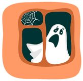 Phantom in a window Royalty Free Stock Photo