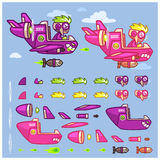 Phantom XXIV Plane Game Sprites Stock Photography