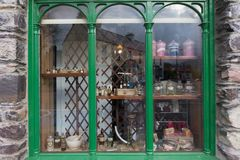 The pharamacy store window. The display in a pharamay in Kerry royalty free stock photo