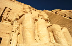 Pharao-Monument von Abu Simbel, Ägypten Lizenzfreies Stockfoto