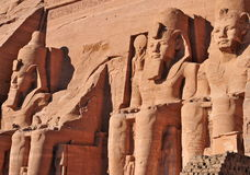 Pharao-Monument von Abu Simbel, Ägypten Lizenzfreie Stockfotos