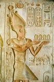 Pharao Ptolemäus IV an Deir EL Medina Stockfotografie