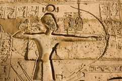 Pharao Ramses II mit Bogen und Pfeil Stockbild