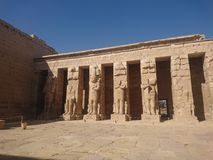 Pharao temple stock photography