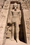 Pharaoh a Abu Simbel, corsa antica dell'Egitto fotografia stock libera da diritti