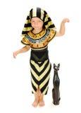 Pharaoh. Boy in carnival costume Egyptian Pharaoh Royalty Free Stock Images