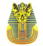 Pharaoh był głową kot Zdjęcia Royalty Free