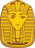Pharaoh dorato Fotografia Stock