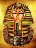 Pharaoh dorato Fotografie Stock