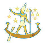 Pharaoh en el barco libre illustration
